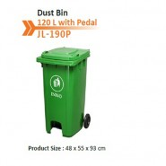 Dust Bin 120 L Green CN With Pedal